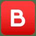 🅱️ Pulsante B (Gruppo Sanguigno) Emoji sulla Piattaforma JoyPixels
