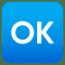 🆗 OK button Emoji on Joypixels Platform