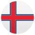 🇫🇴 flag: Faroe Islands Emoji on Joypixels Platform