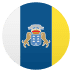 🇮🇨 flag: Canary Islands Emoji on Joypixels Platform
