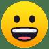 😀 grinning face Emoji on Joypixels Platform