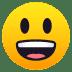 😃 Mukhang Nakangisi at Malaki ang Mata Emoji sa JoyPixels Platform
