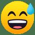😅 grinning face with sweat Emoji on Joypixels Platform