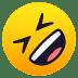 🤣 Tumbado en el suelo por la risa Emoji en la plataforma JoyPixels