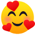 🥰 smiling face with hearts Emoji on Joypixels Platform