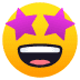 🤩 star-struck Emoji on Joypixels Platform