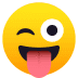 😜 winking face with tongue Emoji on Joypixels Platform