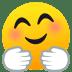 🤗 Faccina Che Abbraccia Emoji sulla Piattaforma JoyPixels