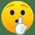🤫 shushing face Emoji on Joypixels Platform