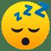 😴 잠자는 얼굴 JoyPixels 플랫폼 이모티콘