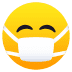 😷 Face With Medical Mask Emoji on JoyPixels Platform