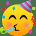🥳 partying face Emoji on Joypixels Platform