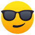 😎 Smiling Face With Sunglasses Emoji on JoyPixels Platform