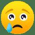😢 哭脸 JoyPixels平台的表情符号
