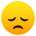 😞 disappointed face Emoji on Joypixels Platform