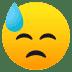 😓 downcast face with sweat Emoji on Joypixels Platform