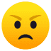 😠 Wajah Marah Emoji pada Platform JoyPixels