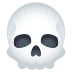 💀 骷髅头骨 JoyPixels平台的表情符号