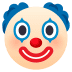 🤡 जोकर का चेहरा जॉयपिक्सेल्स प्लेटफ़ॉर्म पर इमोजी