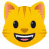 😺 grinning cat Emoji on Joypixels Platform
