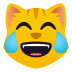 😹 Cat With Tears of Joy Emoji on JoyPixels Platform