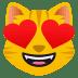 😻 smiling cat with heart-eyes Emoji on Joypixels Platform