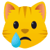 😿 Crying Cat Emoji on JoyPixels Platform