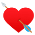 💘 heart with arrow Emoji on Joypixels Platform