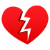 💔 broken heart Emoji on Joypixels Platform