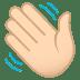 👋🏻 waving hand: light skin tone Emoji on Joypixels Platform