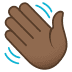 👋🏾 Medium-Dark Skin Tone Waving Hand Emoji on JoyPixels Platform