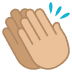 👏🏼 clapping hands: medium-light skin tone Emoji on Joypixels Platform