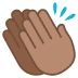 👏🏽 clapping hands: medium skin tone Emoji on Joypixels Platform