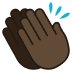 👏🏿 clapping hands: dark skin tone Emoji on Joypixels Platform