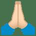 🙏🏻 folded hands: light skin tone Emoji on Joypixels Platform