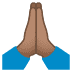🙏🏽 folded hands: medium skin tone Emoji on Joypixels Platform