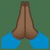 🙏🏾 folded hands: medium-dark skin tone Emoji on Joypixels Platform