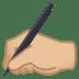 ✍🏼 writing hand: medium-light skin tone Emoji on Joypixels Platform