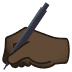 ✍🏿 writing hand: dark skin tone Emoji on Joypixels Platform