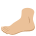 🦶🏼 foot: medium-light skin tone Emoji on Joypixels Platform