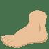 🦶🏼 foot: medium-light skin tone Emoji on Joypixels Platform