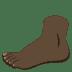🦶🏿 foot: dark skin tone Emoji on Joypixels Platform