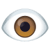 👁️ Ojo Emoji en la plataforma JoyPixels