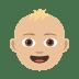 👶🏼 baby: medium-light skin tone Emoji on Joypixels Platform
