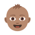 👶🏽 baby: medium skin tone Emoji on Joypixels Platform