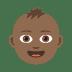 👶🏾 Medium Dark Skin Tone Baby Emoji on JoyPixels Platform