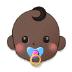👶🏿 Dark Skin Tone Baby Emoji on Samsung Platform