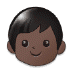 🧒🏿 child: dark skin tone Emoji on Samsung Platform