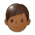 👦🏾 boy: medium-dark skin tone Emoji on Samsung Platform