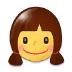 👧 girl Emoji on Samsung Platform